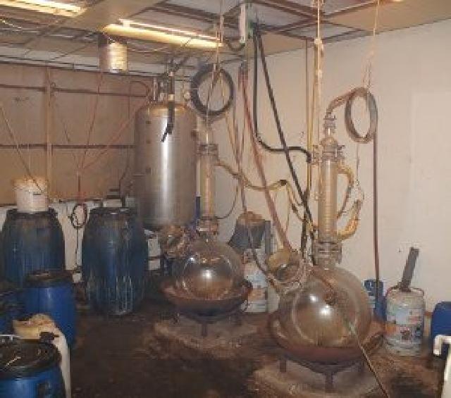 Drugslaboratorium aangetroffen