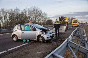Gewonde bij ongeval op A17
