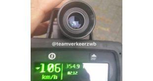 Met 106 km h over de Antwerpseweg rijbewijs ingevorderd