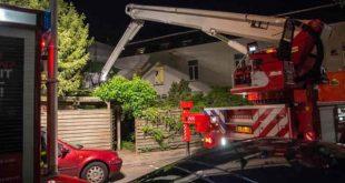 Schuur aan Brugstraat in Roosendaal zwaar beschadigd
