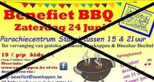 Benefietbarbecue C.V. De Ossekoppen en Discobar Decibel gaat niet door
