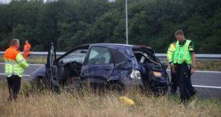 Vrouw uit Halderberge om leven bij ongeluk A58