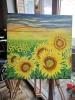Aoi Wongwat - Hobby Kunstschilderen - Olieverf Schilderij Zonnebloemen 9 s - (c) Noordernieuws.be 2020
