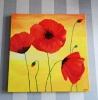Aoi Wongwat - Hobby Kunstschilderen - Rode bloemen op canvas 10s - (c) Noordernieuws.be 2020