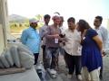 With Mahardja visiting my sculpture