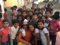 with school children in Pune