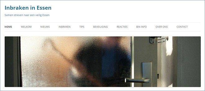 Website Inbraken Essen groot succes