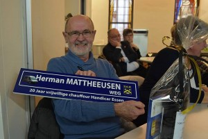 Herman Mattheeusen gehuldigd voor 20 jaar vrijwilligerswerk