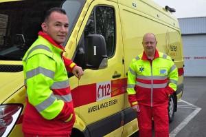 Op werkdagen van 08:00 tot 1800 staan Koen en een vrijwilliger klaar voor medische noodgevallen