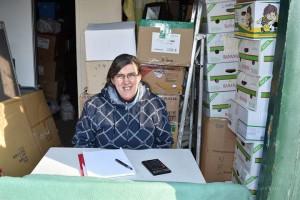 Annemie Simons werkt twee jaar bij broeder Willy