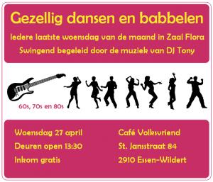Dansen en gezellig babbelen in Zaal Flora - 27 april
