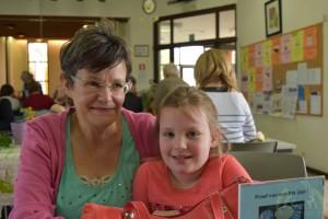 Ludy Kerstens met kleindochter Julie
