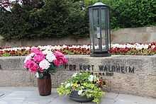 Het graf van Kurt Waldheim