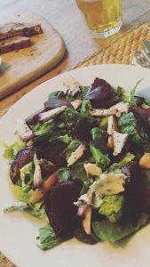 Geroosterde bietjes salade
