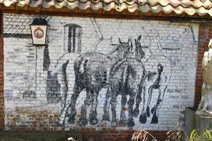 Paul Pauli kunstschilder - paarden quarantainestallen 1
