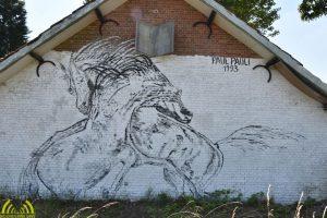 Paul Pauli kunstschilder - paarden quarantainestallen 2