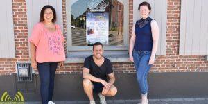 Van links naar rechts organisatoren Ingrid Walus, Nico De Prest, Claudia Raeymakers