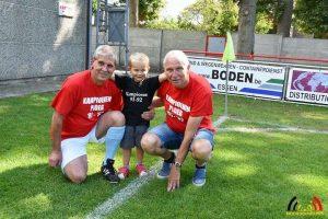 Vlnr Marc Meeusen, zijn kleinzoon Mats en Jef Van Gool