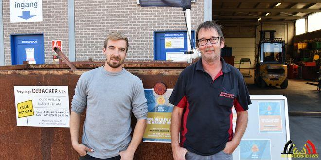 Frank en Yoni - Recyclage Debacker en Zn - Oude metalen voor de warmste week - (c) Noordernieuws.be 2018 - HDB_9429u80