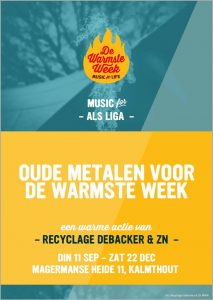 Recyclage Debacker verzamelt oude metalen ten gunste van ALS en de Warmste Week