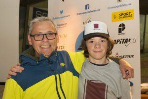 Niels De Brauwer met vader Leo