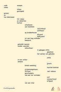 Ed Bruyninckx - Schrijver - Dichter - Toneelsschrijver - regisseur - Gedicht Oude Eeuwen