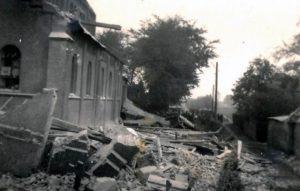 De verwoeste kerk ©Heemkundige Kring Essen