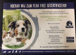Gezelschapsdierenkliniek Roosendaal Fear Free gecertificeerd3