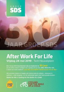 Groep SDS organiseert 'After work for life' affiche