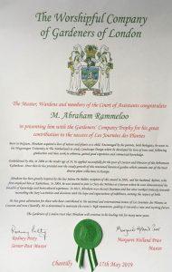 Internationale erkenning voor Arboretum Kalmthout.affichejpg