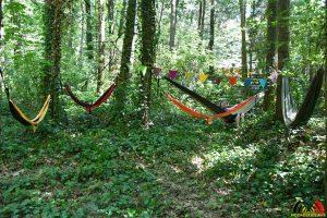 Hangmat in plaats van tent - Wendy Nederpel - (c) Noordernieuws.be 2019 - HDB_7636