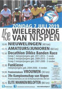 Wielerzomer Roosendaal met de 45e Wielerronde van Nispen