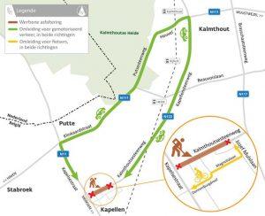 Nieuw asfalt Kalmthoutsesteenweg