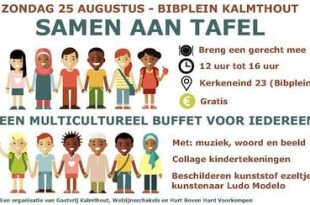 Samen aan Tafel' een multicultureel buffet door en voor alle inwoners van Kalmthout