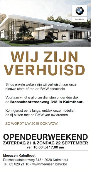 BMW Meeusen Kalmthout neemt 70 jaar vakmanschap mee naar nieuwe concessie in Brasschaat!
