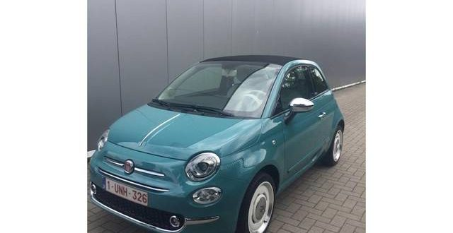 Fiat 500 cabrio van parking station Kalmthout gestolen