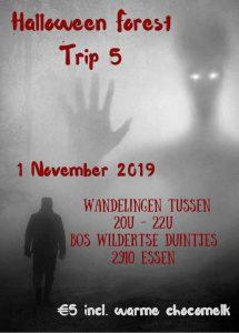 Jaag mensen de stuipen op het lijf bij de Halloween Forest Trip! affiche