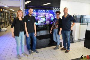 Karin, Nando, Francis en Wim - Aquariumhandel Brouwers - Specialisten in zoetwater en zoutwater aquarium - Roosendaal - (c) Noordernieuws.be 2019 - HDB_8899
