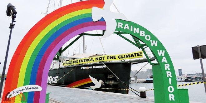 Greenpeace - Rainbow Warrior doet Antwerpen aan - (c) Noordernieuws.be 2019 - 0