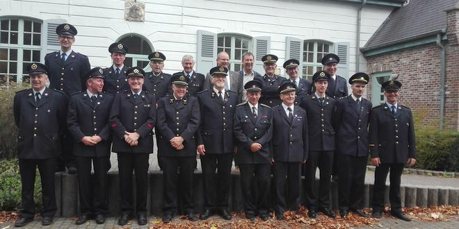 Tsjechische brandweermannen op bezoek in Essen