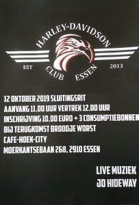 Zevende sluitingsrit Harley-Davidson Club Essen vertrekt van nieuwe locatie!-