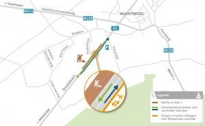 Werken wegdek Bredabaan Wuustwezel-centrum
