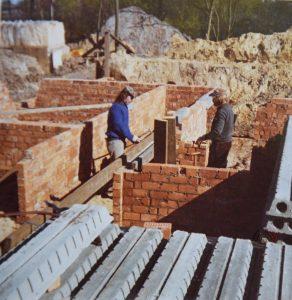 Bouw van de villa in de Oude Baan