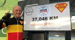Herman De Ridder is de snelste 80-plusser op de fiets