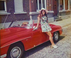 Mijn dochter Diana aan de grens in Essen