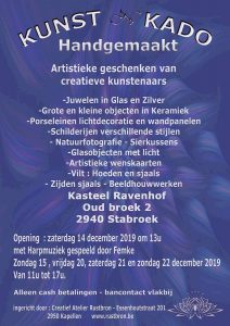 Rustbron organiseert Kunst N Kado 2019 - Kasteel Ravenhof - Stabroek - Noordernieuws.be