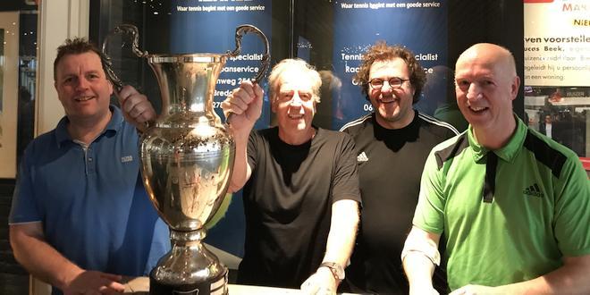 Alfons Warmoeskerke en Kristof Dams uit Wuustwezel winnen Nederlands indoor Tennistoernooi 2020