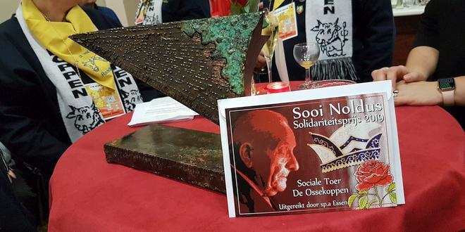 Ossekoppen gelauwerd met solidariteitsprijs Sooi Noldus