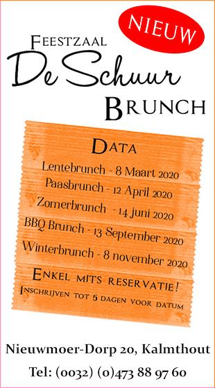 Brunch Specials bij Feestzaal De Schuur - Kalmthout-Nieuwmoer