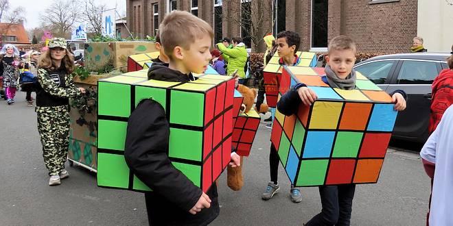 Kindercarnaval optocht Mariaberg Centrum - Essen - (c) Noordernieuws.be 2020 - 10u